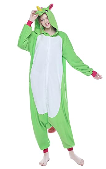 96d76c8ad NEWCOSPLAY Adult Unisex Unicorn Onesies Pajamas Kigurumi Halloween Cosplay  Costume(S, Light