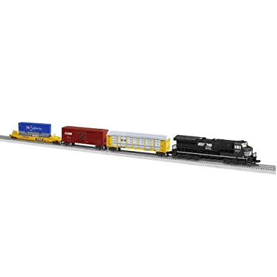 Lionel Norfolk Southern Modern Freight Tier 4 Electric O Gauge Model Train Set w/ Remote and Bluetooth Capability: Toys & Games