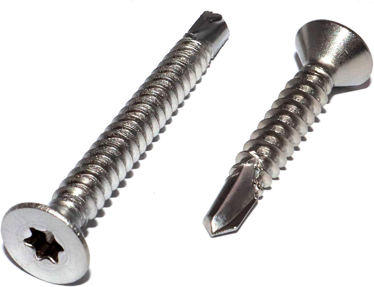 Bohrschrauben Form O mit Innensechsrund Torx und Senkkopf 3,9x38 DIN 7504 Edelstahl A2 St/ückzahl 50 Schnellbauschrauben selbstschneidend