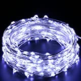 20FT Starry String Lights Warm White Color LED's on a Flexible Copper Wire - LED String Light with 120 Individually Mounted LED's-UL Adaptor Included ¡­