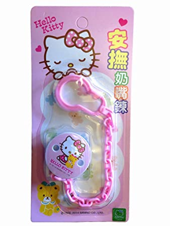 Amazon.com: Hello Kitty Baby Pacifier Holder con suave Edged ...