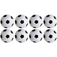 Table Soccer Foosballs Game,Pack of 8PCS(Black & White,32mm/1.26 in)