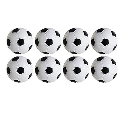 Black /& White,32mm//1.26 in Wenosda Table Soccer Foosballs Game,Pack of 8PCS
