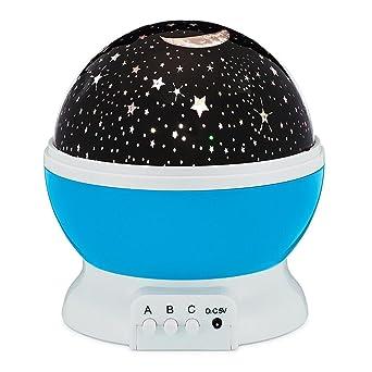 feamos rotación luz LED de Noche Proyector estrella luna lámpara ...