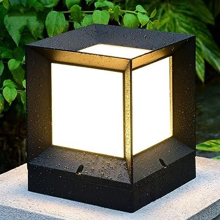 HLR Farolas Jardín Impermeable al Aire Libre de Las Luces del Paisaje Post-Columna de luz LED a Prueba de Herrumbre Pilar Plaza Patio Porche decoración lámpara de alumbrado público (Size : Large):
