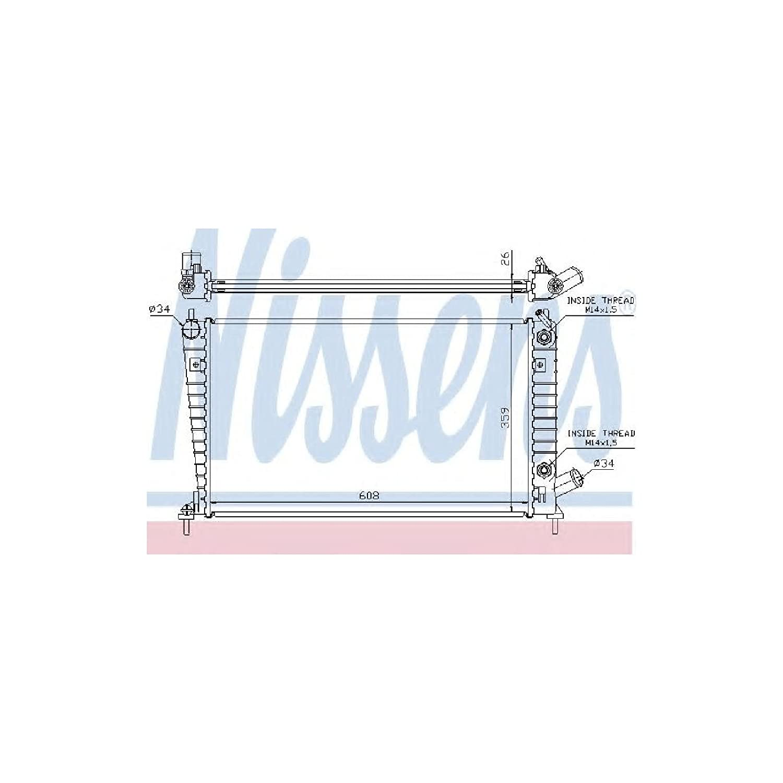 Nissens 68001A Radiatore per Raffreddamento del Motore