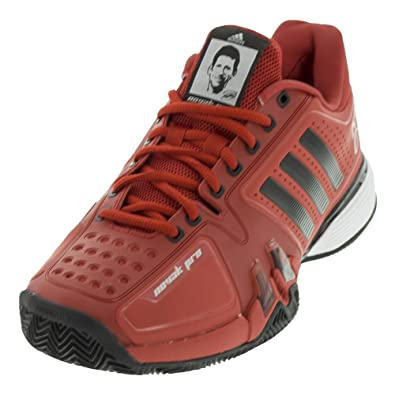 official photos 1d929 44b9c adidas Men s Novak pro Clay Tennis Shoe, Real red, core Black, FTWR White
