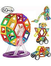 MOVEONSTEP Bloques de Construcción Magnéticos Construcción Juego Rueda de Ferris Bloques Magnéticos Juguetes Creativos y Educativos Regalo para Niños Cumpleaños y Fiestas
