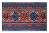 Decorative Things Indoor Outdoor Mats Outdoor Patio Rugs Thin Rubber Mat Machine Wash 18'' x 27'' Oriental Look
