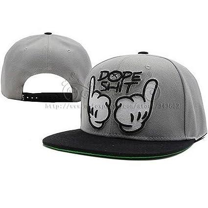 towallmark Dope Shit Snapback gris y blanco sombrero gorra de béisbol  ajustable Hip-Hop Gorras bb0a822e84b