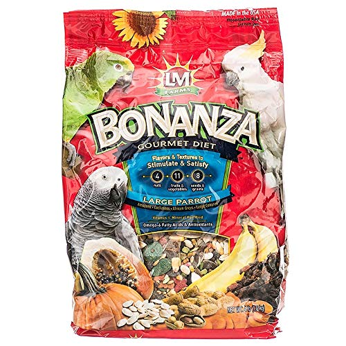 LM Animal Farms Bonanza Gourmet Diet Large Parrot Bird Food (4 lbs)