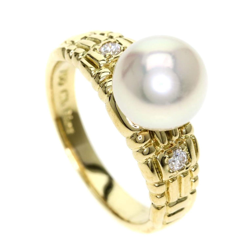 [クリスチャンディオール]パール/真珠/ダイヤモンド リング指輪 K18イエローゴールド レディース (中古) B07DXG9BGZ