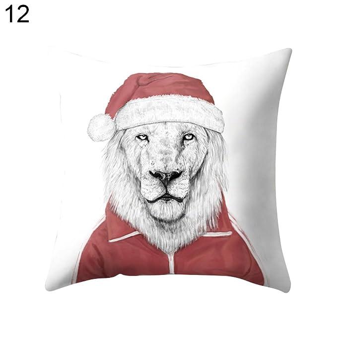 Oso Panda animales sofá manta funda de almohada Funda para cojín funda de almohada de decoración para el hogar, 16#, talla única