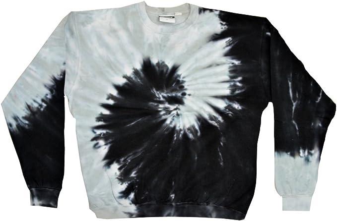 XXXL w// Pocket Long Sleeve Pick a Blue Tie Dye Hoodie Sweatshirt Adult S