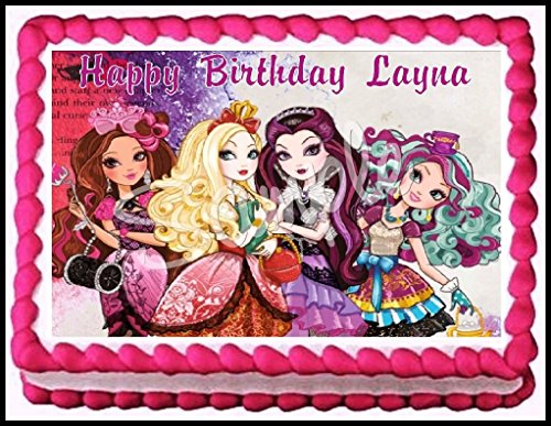 Ever After High Edible Frosting Sheet Cake Topper - 1/4 Sheet