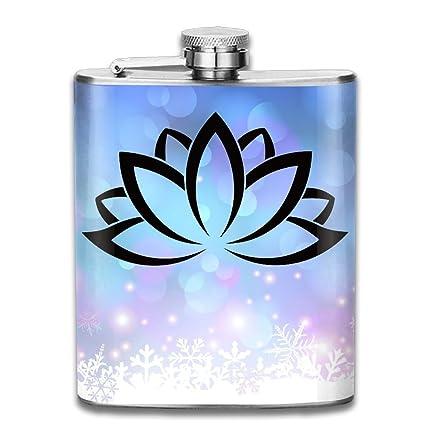 Amazon Cymo Lotus Flower Buddhist Symbol Stainless Steel Pocket