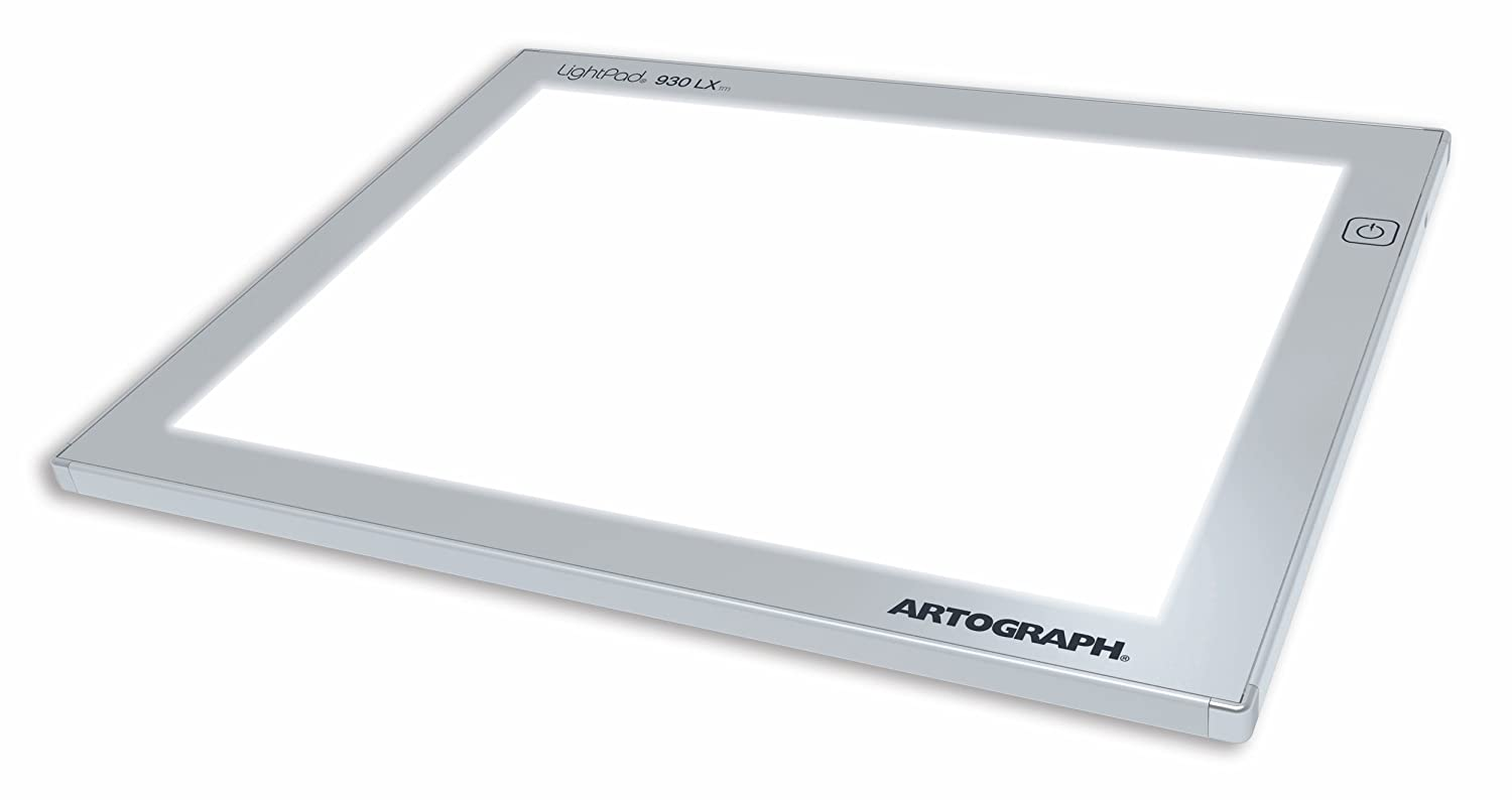 Artograph LX LightPad light box, 9 x 12 Inches, Silver