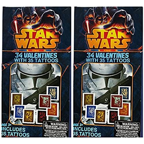 Star Wars 34 Count Valentines In 8 Cool Designs & 35 Tattoos (2) Sales
