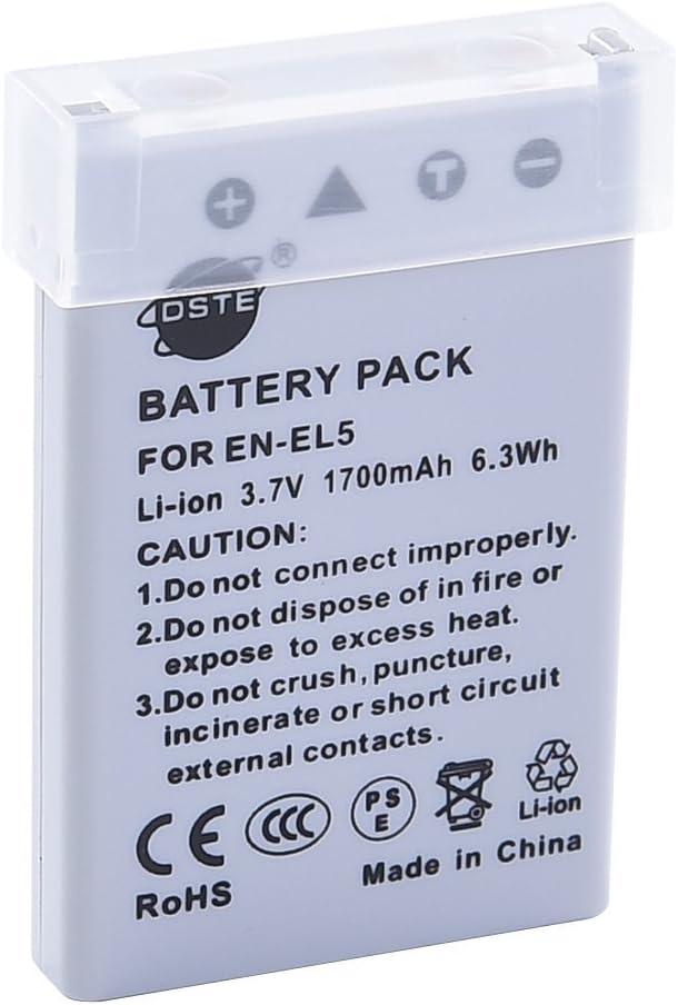 DSTE EN-EL5 Li-Ion Batería Traje y Cargador Micro USB Compatible ...