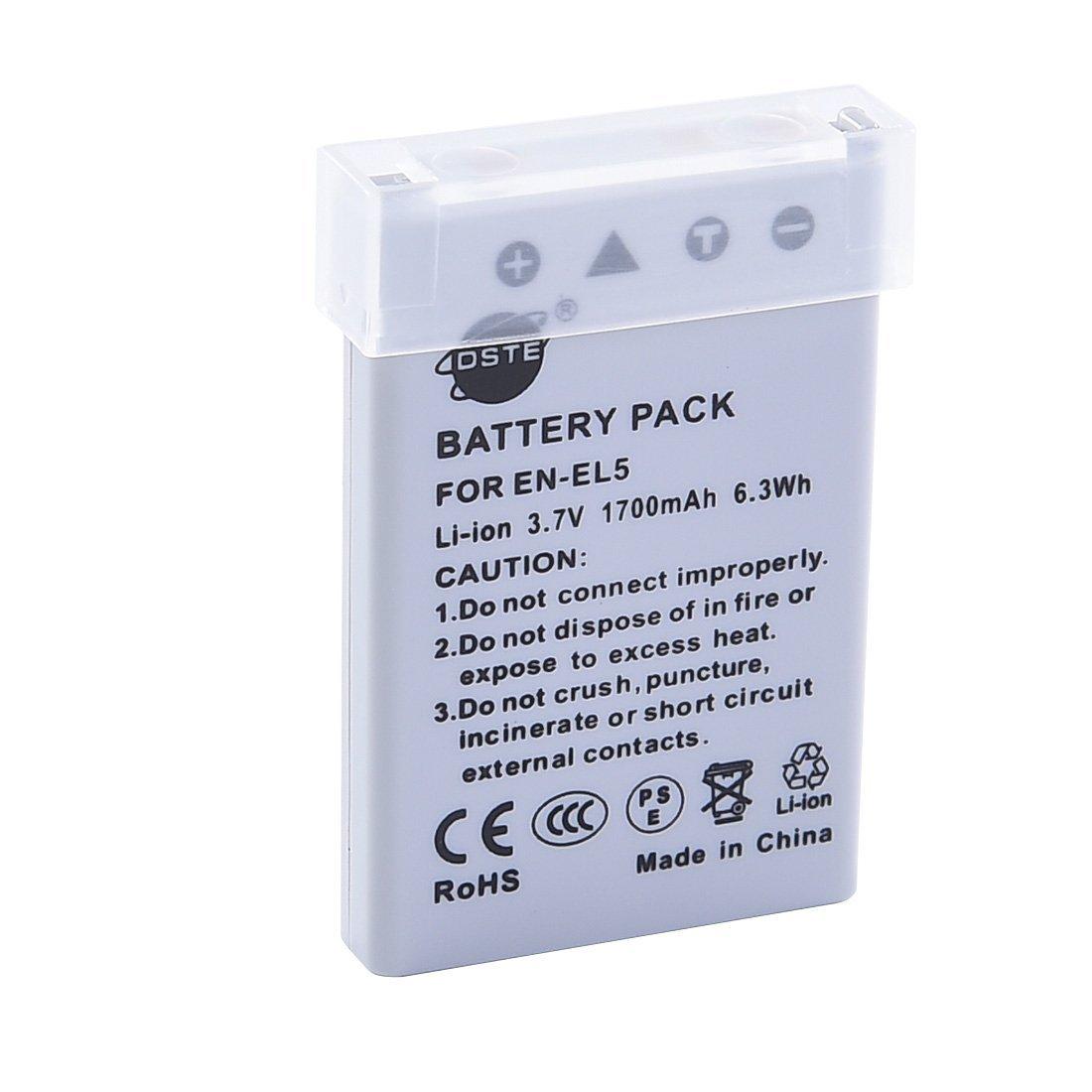 DSTE EN-EL5 Li-Ion Bater/ía Traje y Cargador Micro USB Compatible con Nikon Coolpix P510 P520 P530 P5100 P6000 S10 P3 P4 P80 P90 P100 P500