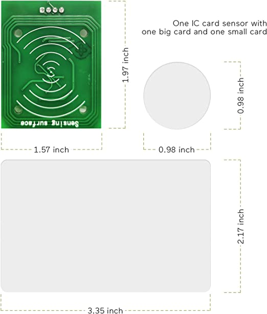 BearHoHo Room Escape Props RFID Reader IC Card One to One to Unlock Chamber with 2 Sets IC Cards of Secrets Game Prop