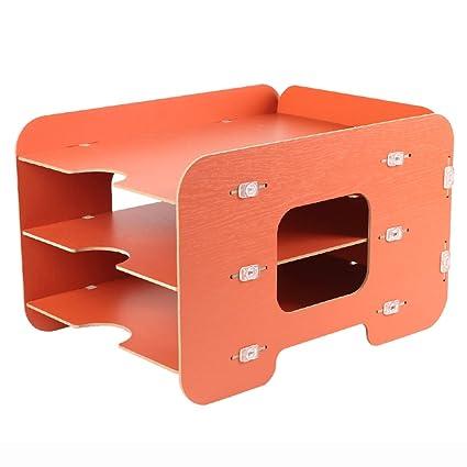 Amazon Lililili Wood Magazine Holder Desktop Storage Rack File Classy Orange Magazine Holder