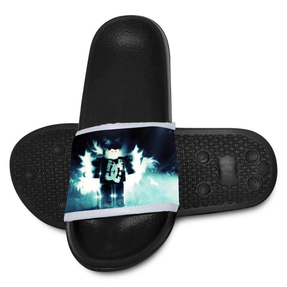 Rob Youth Bath Slipper Lox Anti-Slip for Indoor Home House Sandal 12 B(M) US
