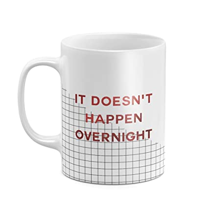 Crimson Red It Doesnt Happen Overnight Checkered Pattern Inspiration Quote Best Birthday Anniversary Gifts