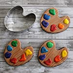 "Ann Clark Cookie Cutters Art Paint Palette/Golf Course Cookie Cutter by Tunde's Creations, 3.5"" 9 ""Paint"" your world with this artsy shape. Pair with the Paint Brush for full effect! Made in the USA - Manufactured in America with certified food safe American steel Variety - For 30+ years the Clark Family has specialized in original designs for creative baking"