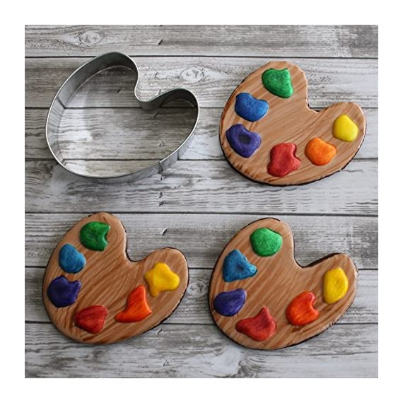 "Ann Clark Cookie Cutters Art Paint Palette/Golf Course Cookie Cutter by Tunde's Creations, 3.5"" 2 ""Paint"" your world with this artsy shape. Pair with the Paint Brush for full effect! Made in the USA - Manufactured in America with certified food safe American steel Variety - For 30+ years the Clark Family has specialized in original designs for creative baking"