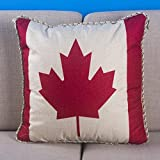ZQ Home decorations Cotton pillow dual-purpose car lumbar cushion Office napping living room 18*18 inch , red maple leaf