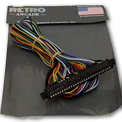 RetroArcade.us Jamma Board Standard Cabinet US Wiring Harness Loom for Jamma 60-in-1 PCB Board: Toys & Games