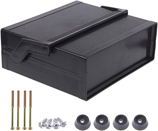 JOYKK Caja de Proyecto de Caja electrónica de plástico Impermeable Negro: Amazon.es: Hogar