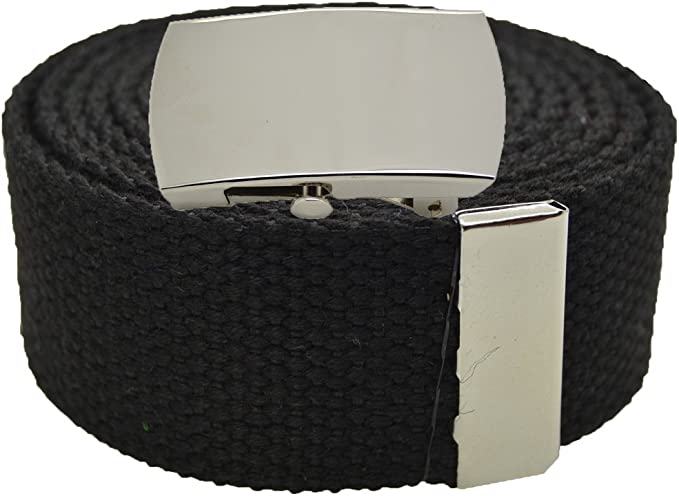 """Men/'s Hunter Green Cotton Web Belt New 1.25/"""" x 60/"""" Made in the USA"""