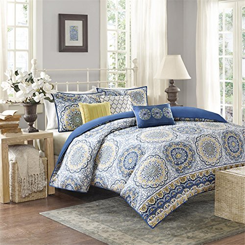Madison Park MP12-2563 Tangiers 6 Piece 2-in-1 Duvet Set, King/California King, - Duvet Set Piece 6