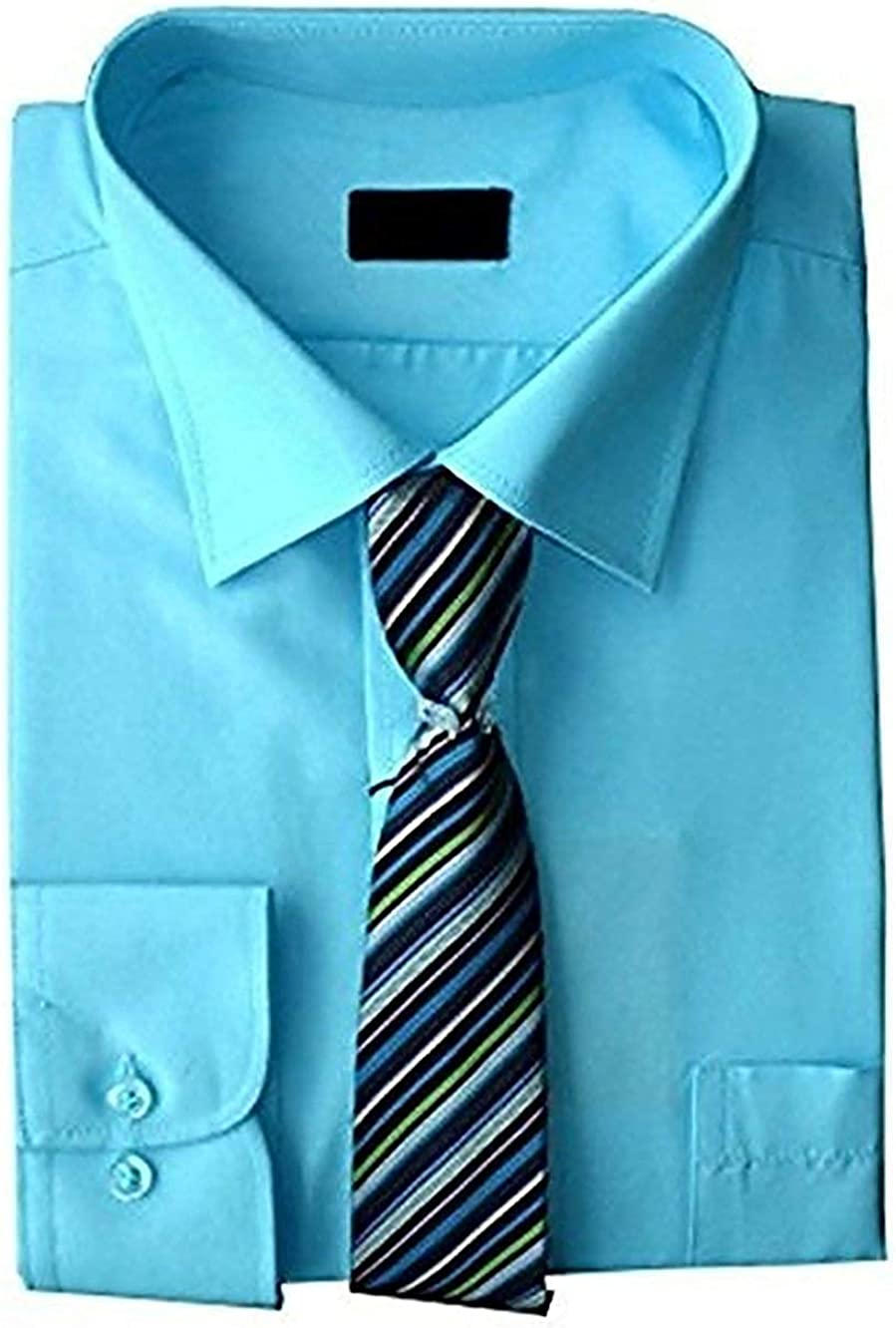 Camisa Y Set Corbata Niños Formal/Inteligentes Camisa Manga Larga ...