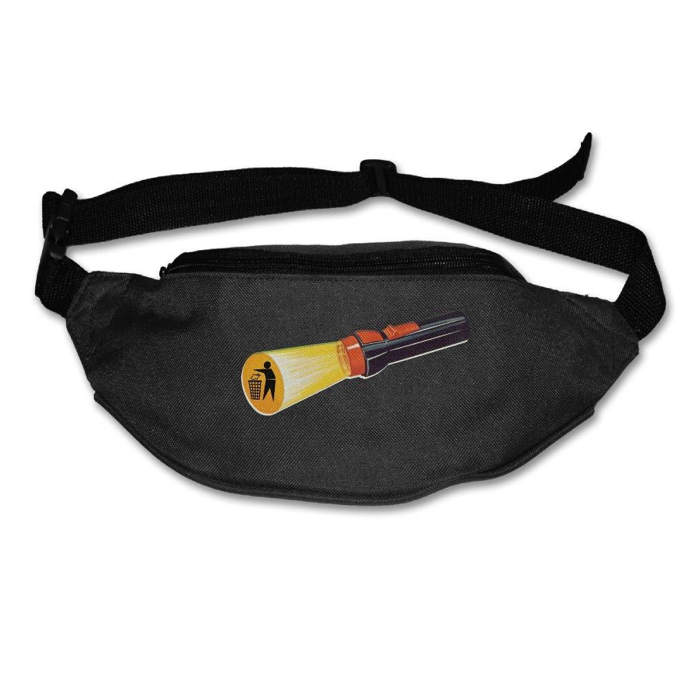 durable service Unisex Pockets Anti Litter Symbol Fanny Pack Waist / Bum Bag Adjustable Belt Bags Running Cycling Fishing Sport Waist Bags Black
