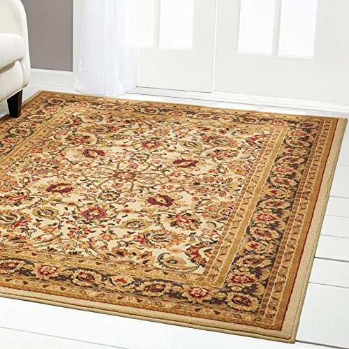 Home Dynamix Royalty Elati Area Rug | Traditional Living Room Rug | Classic Boarders and Medallion Prints | Persian-Inspired Design | Ivory, Tan, Beige 43″ x 62″ Review