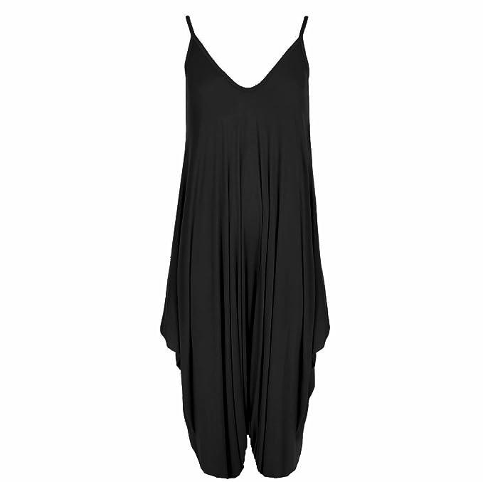 82f24476355d FadhalTrading Womens Ladies Cami Romper Baggy Harem Jumpsuit Playsuit Dress Plus  Size 8-26  Amazon.co.uk  Clothing