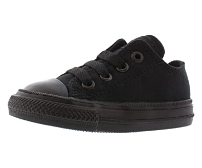 59bce09446ff Converse Chuck Taylor All Star II Ox Black Monochrome Textile 4 UK Child