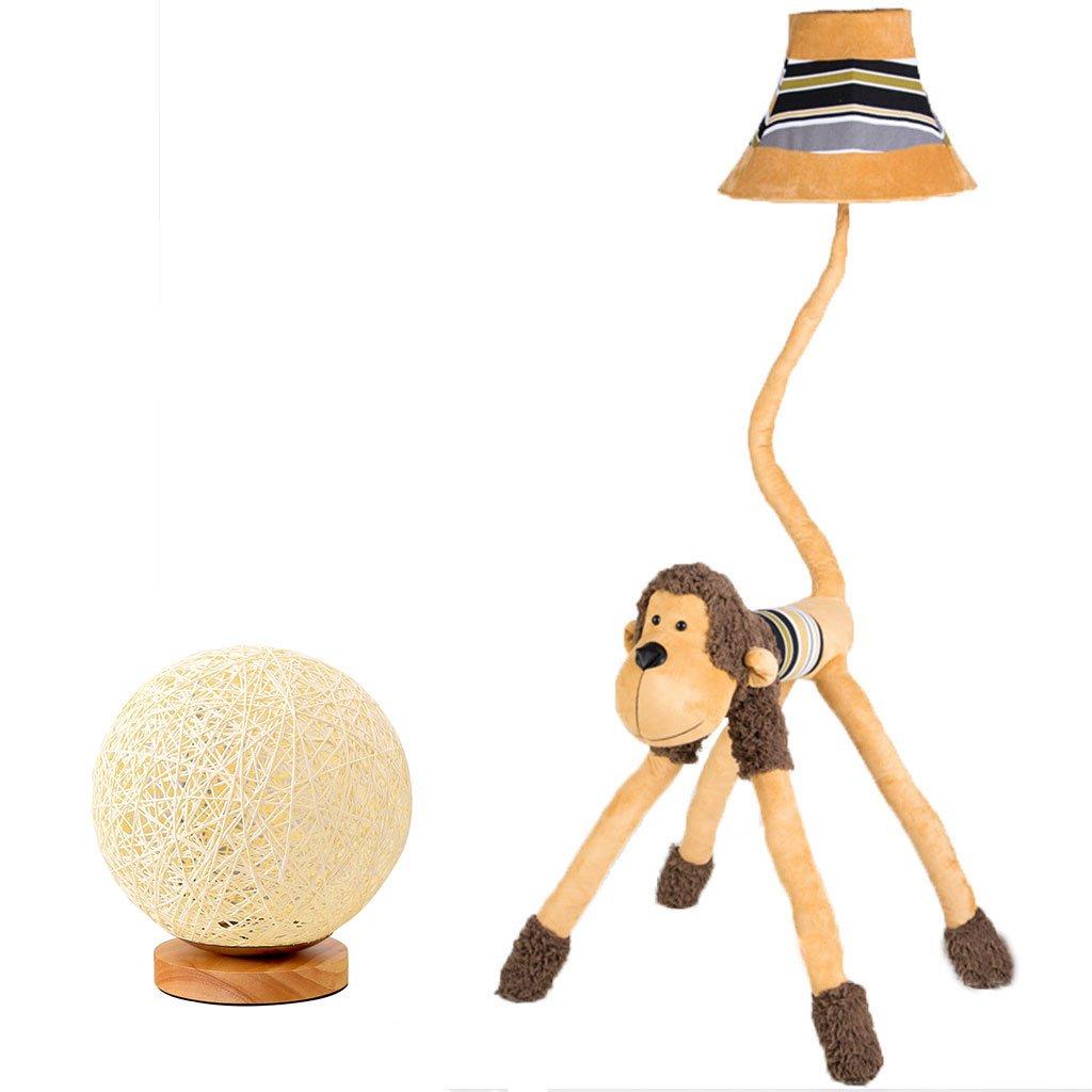 Vbimlxft- Affe Plüsch Affe Stehlampe Tischlampe gelb Lion Kissen Wohnzimmer Schlafzimmer Kinderzimmer Tischlampe kreatives Geschenk senden ein Nachtlicht Stehlampe (Farbe   Floor lamp)
