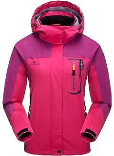 Aieoe - Chaqueta Deportivo para Mujer Impermeable para Invierno Otoño Abrigo para Deportes al Aire Libre…