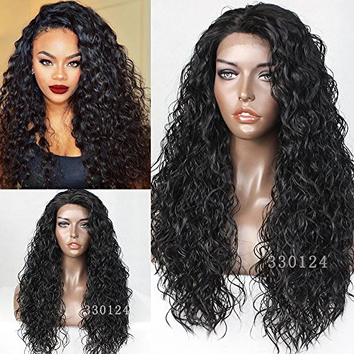 [Vanessa Queen 180 Density Curly Synthetic Lace Front Wig Kinky Curly Hair wigs 26Inch] (Curly Synthetic Hair)