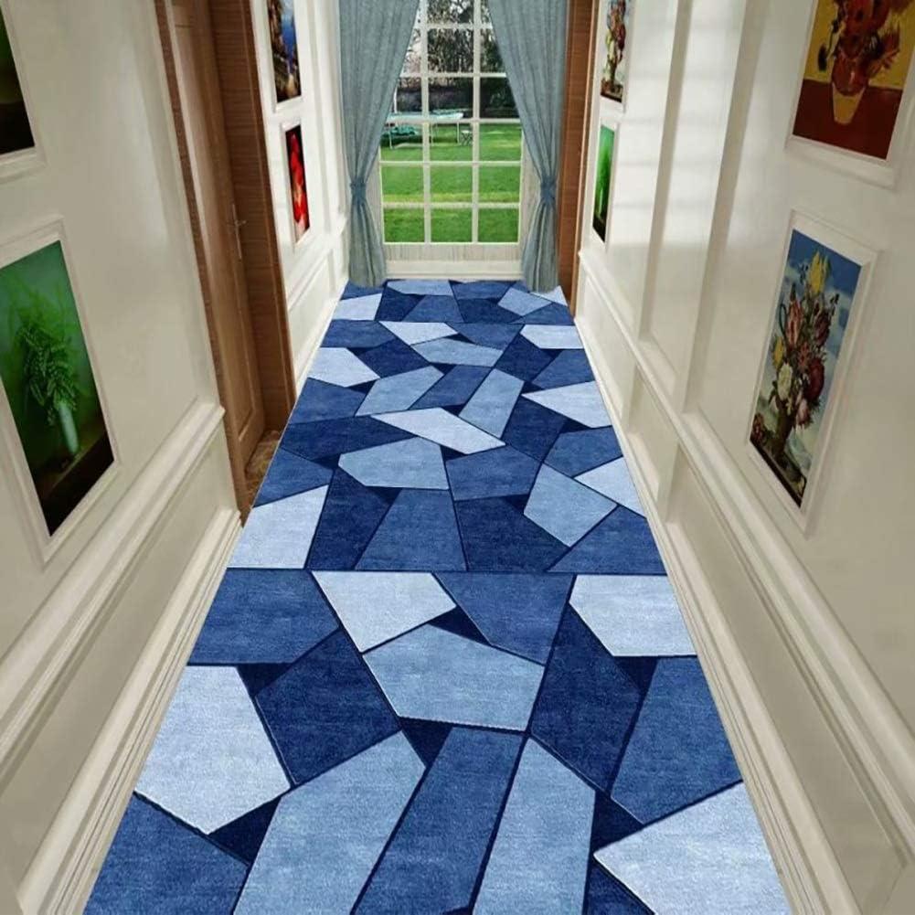 Blue Extra Long Narrow Hallway Hall Corridor Runner Rugs Heavy Duty Kitchen Mats