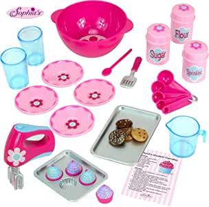 18 Inch Doll Baking Set of 23 Pcs. Fits American Girl Doll Furniture, Mini Doll Food Cookware Set | Doll Sized