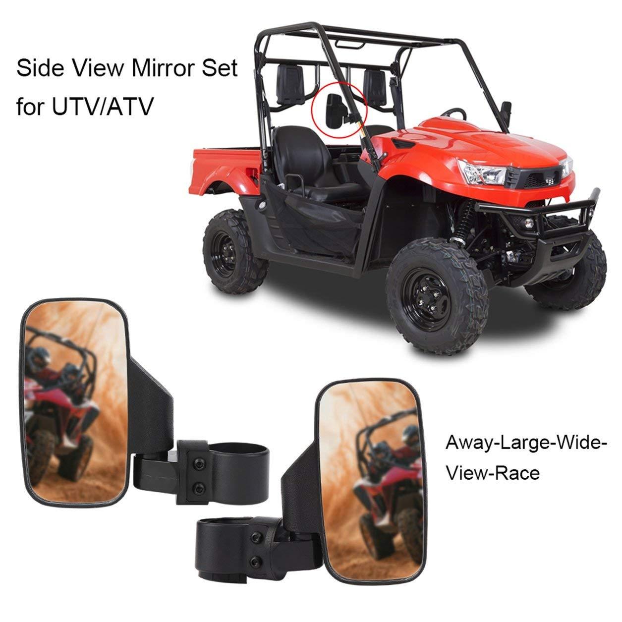 Side View Mirrors Set High Impact Break-Away Large Wide View For UTV ATV GA