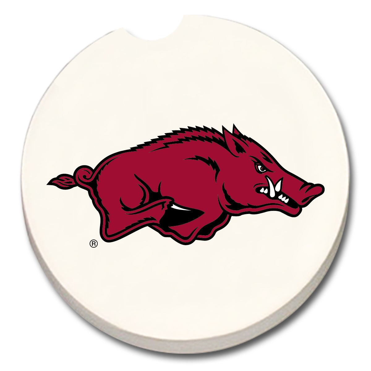 Licensed 12306 NCAA Arkansas Razorbacks Absorbent Car Coaster 1 COUNT CounterArt
