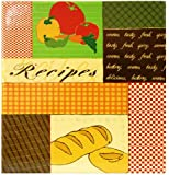 MBI Recipes 3-Ring Scrapbook Kit with 5 Inch by 7 Inch Recipe Cards