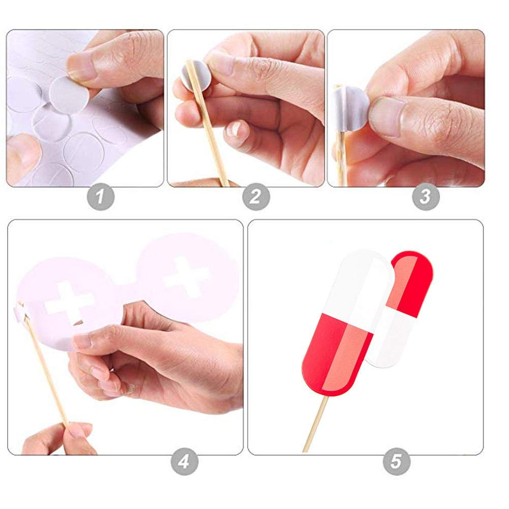 38PCS Graduation Photo Props-Medical School Graduate Party Supplies Decoration With Made Of Quality Paper,durable And Thick,Easy To Assemble,which Can Keep For A Long Time,for Graduation Theme Party