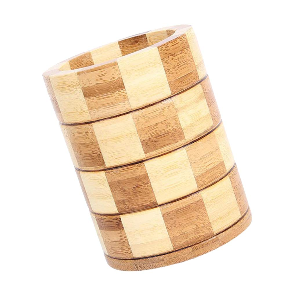 Baoblaze Wood Kitchen Utensil Holder Carved six Corners Counter Top Cooking Tools Cup